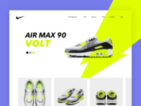 Nike Air Max 90 Volt shoe lightning nike ux ui shoes