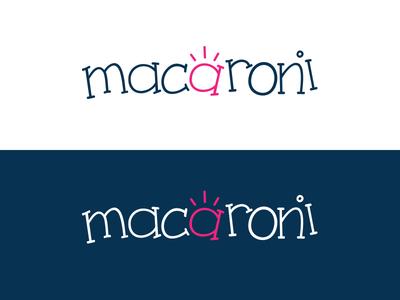 Macaroni Version 2 kids fun design logo branding