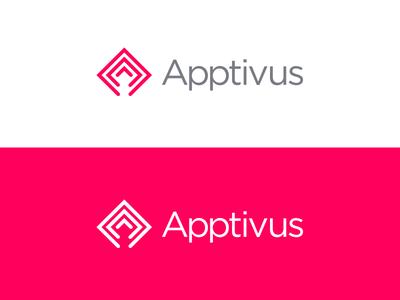 Apptivus Branding stroke branding app logo
