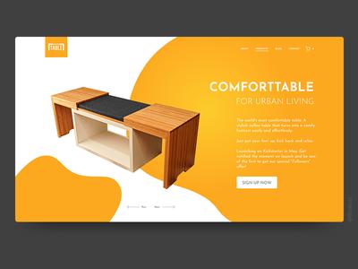 Comforttable. branding web landing clean webdesign ui