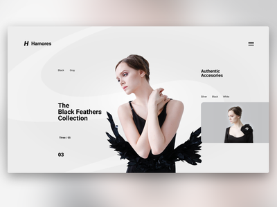 Hamores UI Design. branding fashion clean ui webdesign
