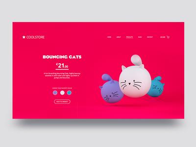 Bouncing Cats UI
