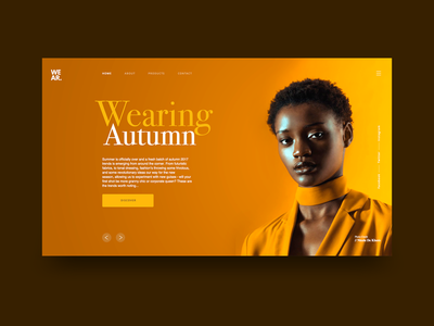 Autumn Fashion UI Concept ux web fashion orange yellow product clean ui