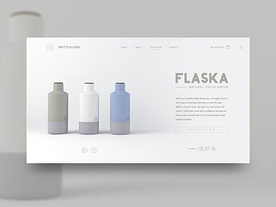 Flaska concept for Bottleliers homedecor 3d clean webdesign ux ui