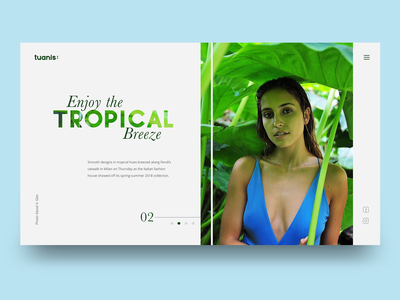 Tropical Ui Concept fashion clean webdesign ux ui