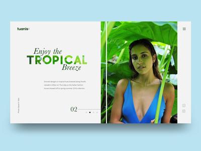 Tropical Ui Concept