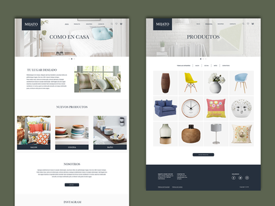 Mijato - Home Decor design uiux web