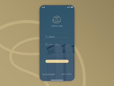 Sabalier Login UI mobile mobile ui ui ux webdesign clean 3d login