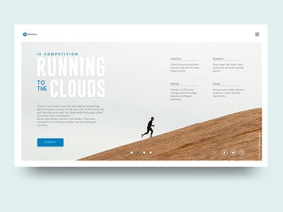 Runnery User Interface sport running clean webdesign ui