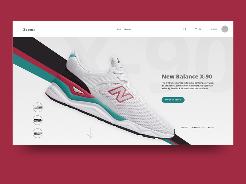Zapaz Shoes Store fashion clean ux webdesign ui