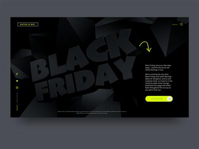 Black Friday UI Design Concept uidesign dark background typography ui 3d blackfriday