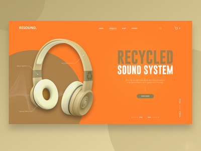 Resound. Desktop view