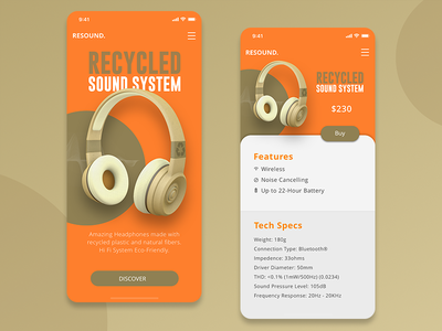Resound. Mobile view