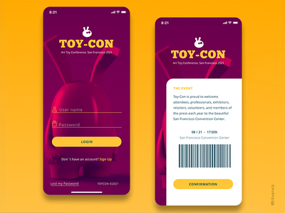 ToyCon Mobile mobile ui mobile ux character design webdesign ui 3d