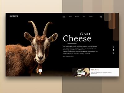 GoatCheese Web Design chesse goat black brown dark clean ui webdesign