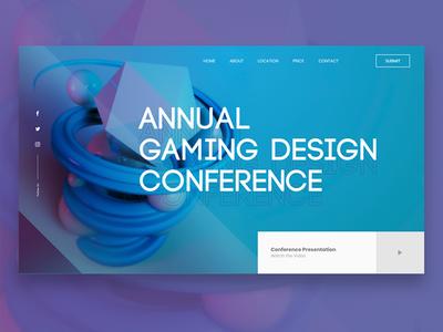 AGD Conference. web landing design webdesign 3d ui