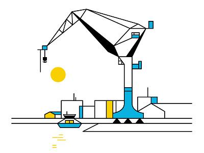 Gothenburg minimal geometric geometry lineart sunny vector art göteborg gothenburg sweden architecture illustration
