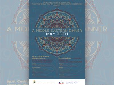 Middle Eastern Dinner Poster