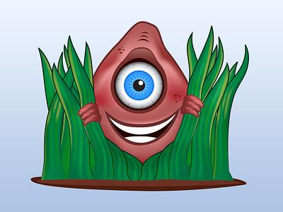 Vector logo character cyclops logo character