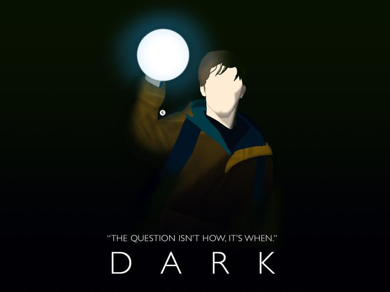 Dark TV Series netflix season2 time travel german tv show german tv show dark series design vector visual design illustration