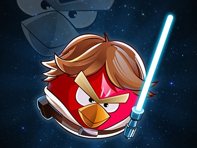 Luke Skywalker luke skywalker star wars angry birds