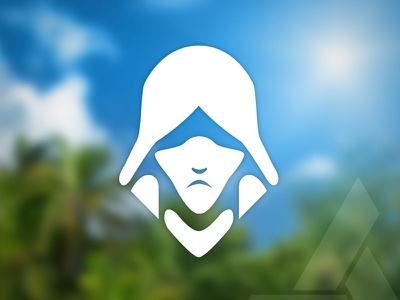 Assassin's Creed Series #5 black flag assassinscreed edwardkenway kenway minimalist illustration flat assassin icon