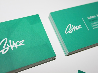 Business Card print shaoz card business