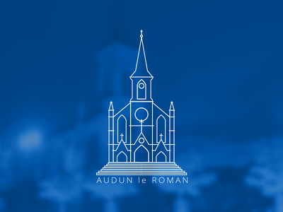 Geofilter Audun white outline church france audun-le-roman audun snapchat filter geo geofilter