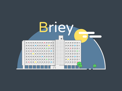 Briey snapchat briey corbusier radieuse cite illustration icon geofilter france city architecture