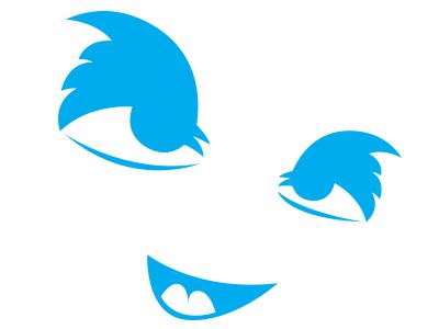 Twitter Face new twitter logo eyes