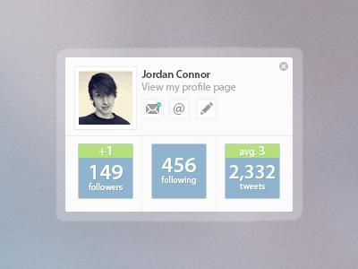 Twitter Widget twitter widget rebound interface design simple colours data arcticsquire