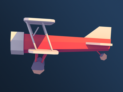 Low Poly Biplane 3d blender aeroplane airplane biplane low poly
