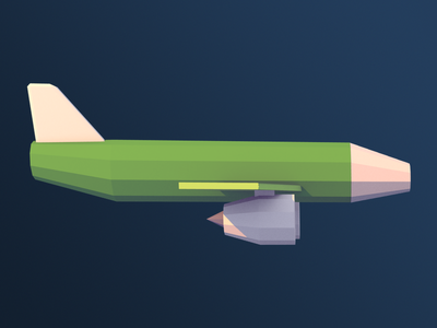 Low poly passenger plane passenger plane low poly blender 3d
