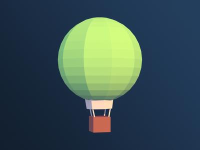 Low Poly Hot Air Balloon hot air balloon low poly 3d blender