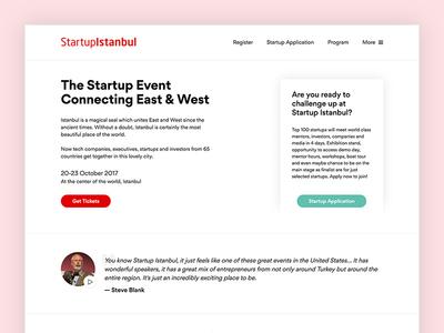 StartupIstanbul - Homepage