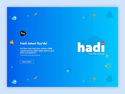 fizy - Hadi Joker web design hadi fizy landing page mobile web ux ui