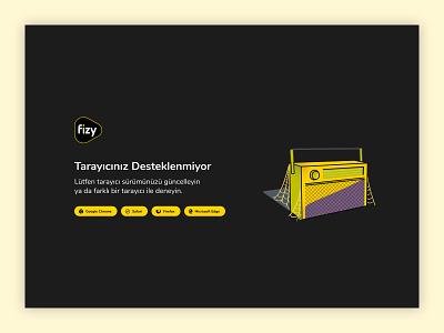 fizy Web - Error Pages old browser error 404 error fizy web design web ui