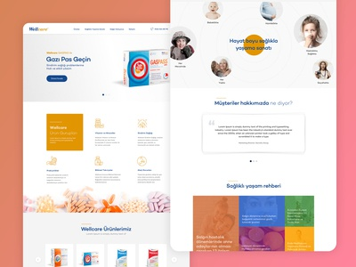 Wellcare E-Commerce Landing Page shop clean e-commerce healthcare health