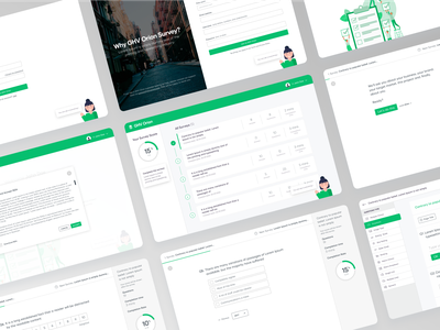 GHV Orion Survey ui ux clean design ui design minimalistic webdesign widget surveys survey dashboard