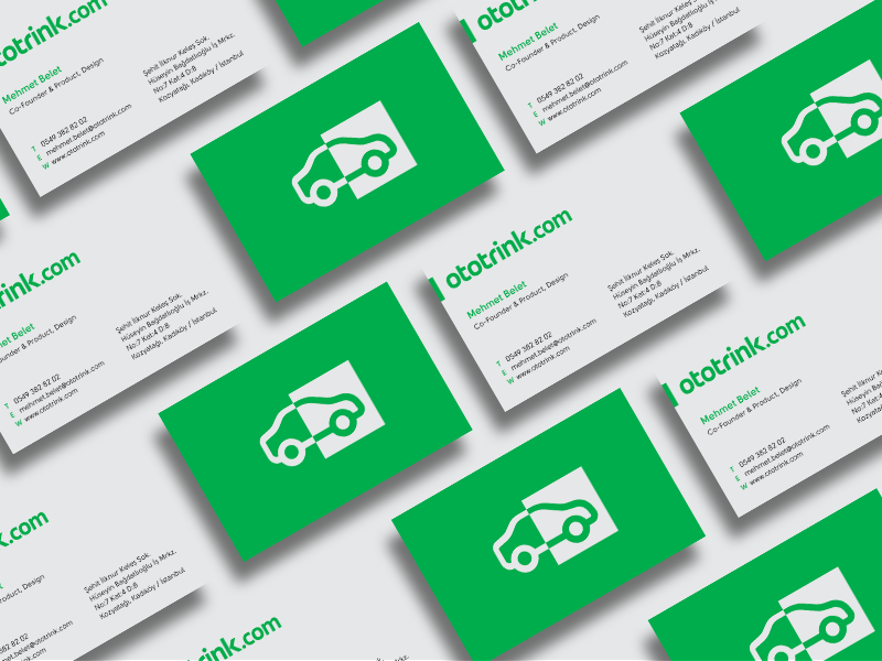 Isolated business card