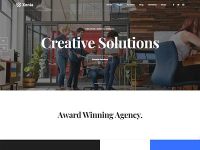Xenia - Creative Multipurpose WordPress Theme startup