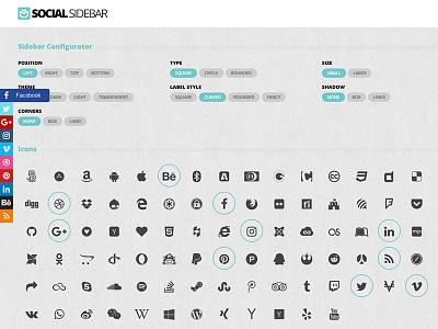 Social Sidebar WordPress Plugin share transition animation css3 html5 addthis flashblue plugin wordpress sidebar social
