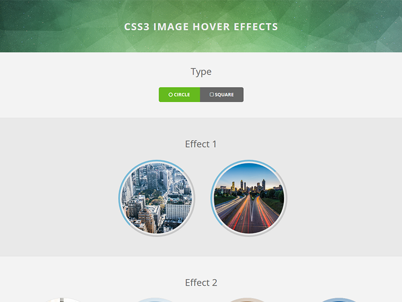 CSS3 Image Hover Effects by FlashBlue on Dribbble
