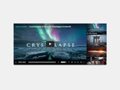 Ultimate Youtube Playlist Video Player horizontal vertical responsive flashblue video channel player playlist youtube html5