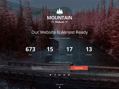 Mountain - Responsive Coming Soon WordPress Plugin video slideshow image subscribe countdown flashblue plugin wordpress soon coming responsive mountain