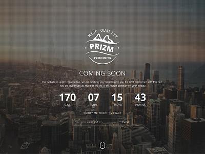 Prizm - Responsive Coming Soon WordPress Plugin slide contact subscribe mailchimp ajax countdown flashblue plugin wordpress comingsoon responsive prizm