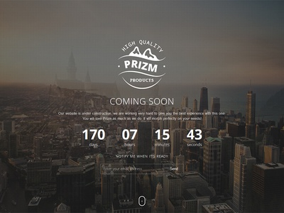 Prizm Responsive Coming Soon WordPress Plugin slide contact subscribe mailchimp ajax countdown flashblue plugin wordpress comingsoon responsive prizm