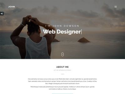 John - Personal Portfolio Theme blog creative vcard resume minimal flashblue bootstrap template theme portfolio personal john