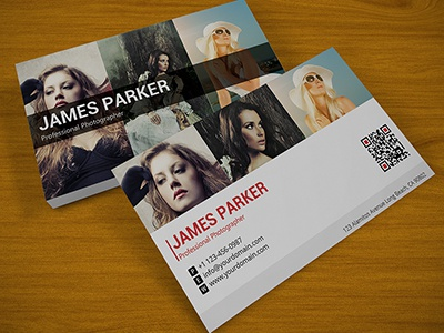 Creative photographer qr business card by flashblue dribbble dribbble reheart
