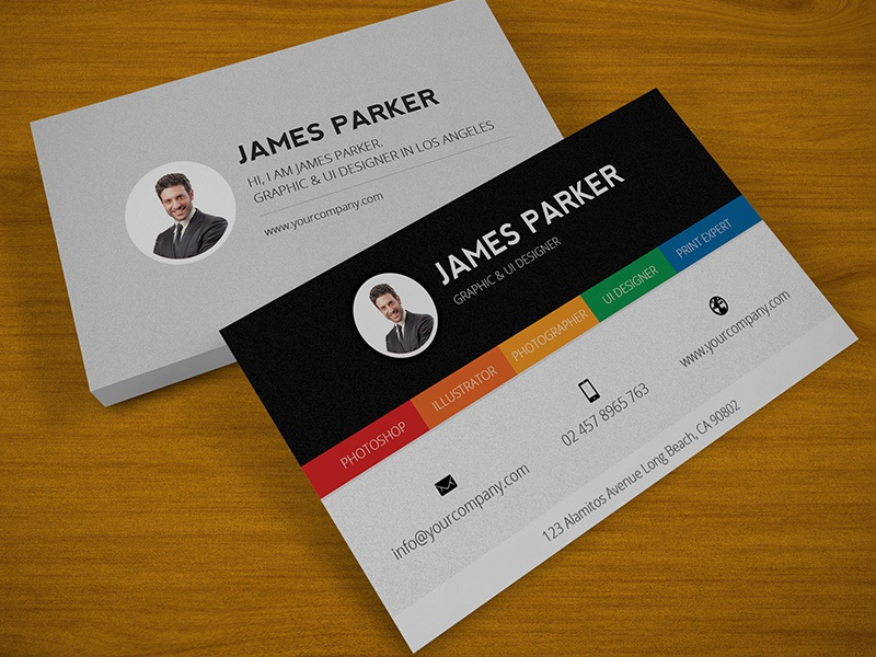 Corporate Business Card corporate business card flashblue designer photographer expert psd cmyk modern attractive print ready royal stylish photo premium brand color
